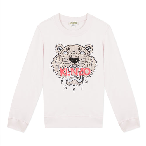Pale Pink & Gold Tiger Sweat Top