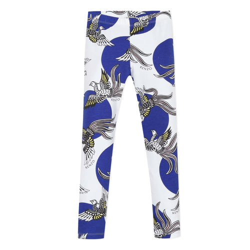 White & Blue Phoenix Leggings