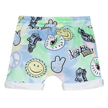 Load image into Gallery viewer, KENZO Green & Blue Fun Print Shorts