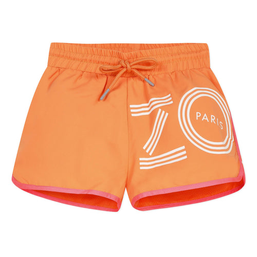 Girls Orange Active Shorts