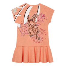 Load image into Gallery viewer, Orange Tiger & Elephant Dress
