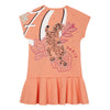 Orange Tiger & Elephant Dress