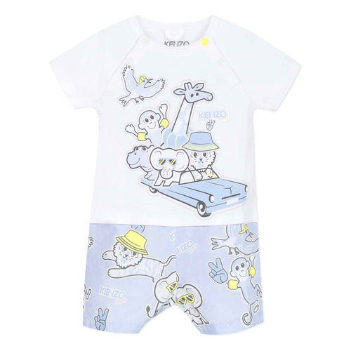 Baby Boys White Shortie Outfit
