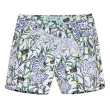 Load image into Gallery viewer, White Jungle Print Swim Shorts