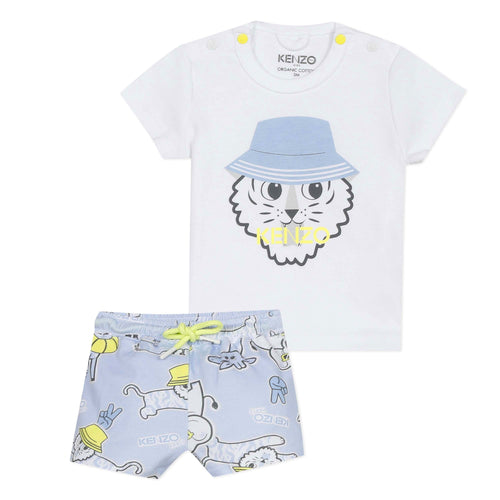 KENZO White Top & Shorts Boys Gift Set
