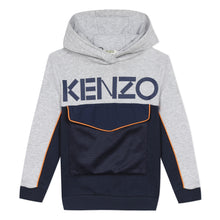 Load image into Gallery viewer, Navy & Grey Pocket Hoodie