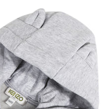 Load image into Gallery viewer, Grey Zip Up Graphic Hoodie