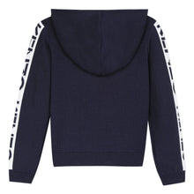Load image into Gallery viewer, Girls Navy Wool Zip Up
