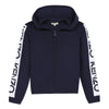 Girls Navy Wool Zip Up