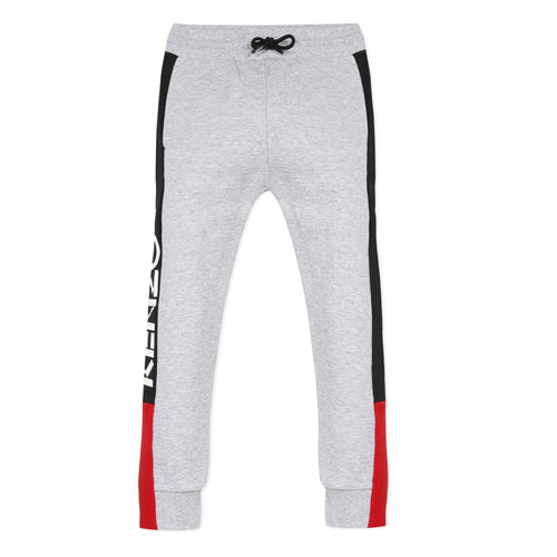 Boys Grey & Red Sweat Pants