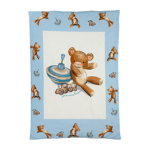 Blue Teddy Bear Blanket