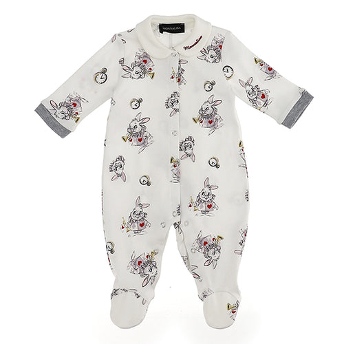 Ivory The White Rabbit Babygrow