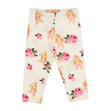 Load image into Gallery viewer, Ivory Roses & Teddy Leggings