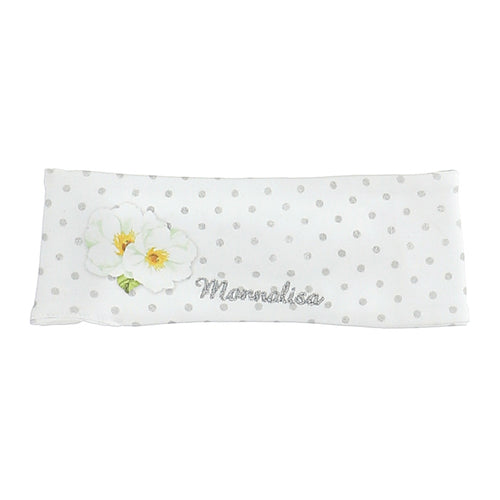 White Polka Dot & Flower Headband
