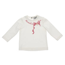 Load image into Gallery viewer, Ivory & Pink Logo Bow Top
