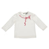 Ivory & Pink Logo Bow Top
