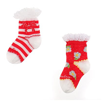 Load image into Gallery viewer, Red 2 Pair Socks