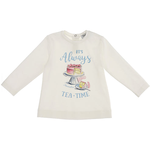 Ivory ' Tea Time' Top