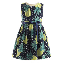 Load image into Gallery viewer, Navy Pineapple Dress