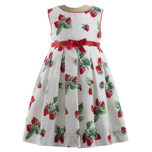 Load image into Gallery viewer, White Strawberry Dress & Bloomers