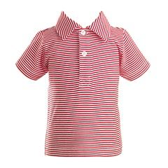 Red Stripe Polo Shirt
