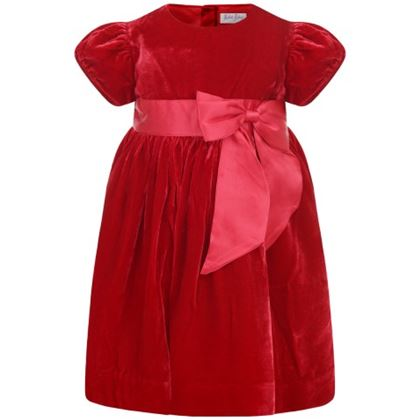 Red Velvet Bow Dress