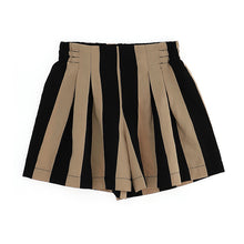 Load image into Gallery viewer, Beige & Black Stripe Shorts