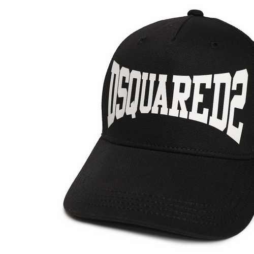 Black DSQUARED2 Logo Cap