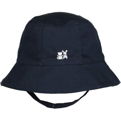 Boys Navy Embroidered Sun Hat