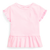 Pink Logo Pleated T-Shirt