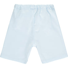 Load image into Gallery viewer, White & Pale Blue Shorts & Shirt Set