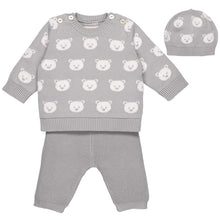Load image into Gallery viewer, Grey Teddy 3 Piece Set