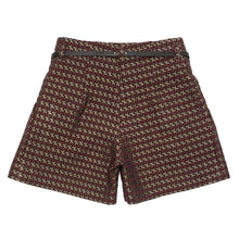 Load image into Gallery viewer, Red & Gold Jacquard Shorts