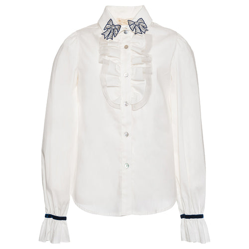 White Bow Blouse