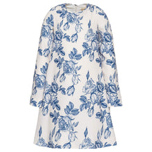 Load image into Gallery viewer, Monnalisa Sale White & Blue Woodland Dress