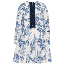 Load image into Gallery viewer, White & Blue Woodland Dress