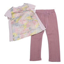 Load image into Gallery viewer, Simonetta Girls Sale Pink Metallic Top & Trousers