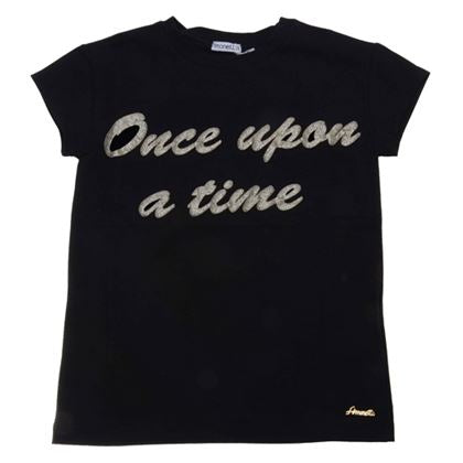 Simonetta Girls Sale Black Once Upon a Time T-Shirt