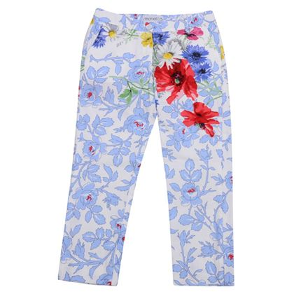 Simonetta Girls Sale Blue Floral Trousers