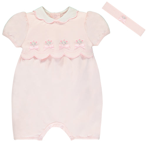 EMILE ET ROSE - Pink Shortie & Headband Outfit