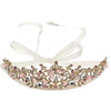 Gold & Pink Diamanté Tiara