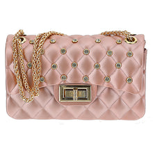 Load image into Gallery viewer, Pink & Gold Diamante Bag