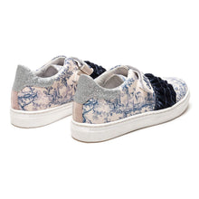 Load image into Gallery viewer, White & Blue Woodland Trainers