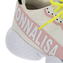 Load image into Gallery viewer, White & Pink Logo Trainers