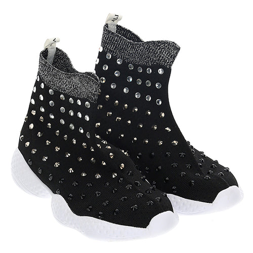 Black Diamante Sock Trainer