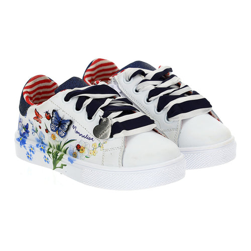 White & Navy Butterfly Trainer