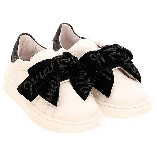 White Velcro Bow Trainer