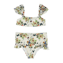 Load image into Gallery viewer, Ivory Floral Bikini Set
