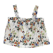 Load image into Gallery viewer, Ivory Floral Strap Top