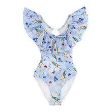 Load image into Gallery viewer, Blue Flower & Butterfly Swimsuit